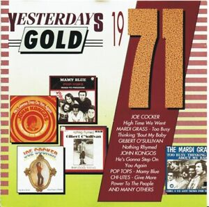 Yesterdays-Gold-1971-CD-T-Rex-Joe-Cocker-Pop-Tops-Chi-lites-etc