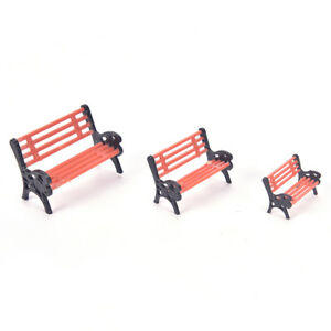 Mini-Garden-Miniature-Park-Seat-Bench-Ornament-Craft-DIY-Fairy-Dollhouse-Dec-wr
