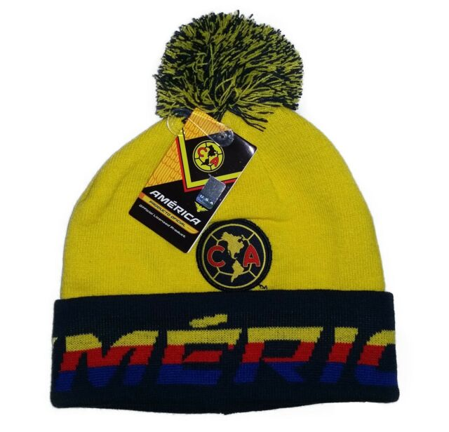 2296e15ad76 Unisex Beanie Club America Soccer Team Official Yellow NV One Size ...
