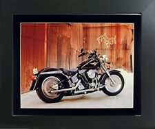 Harley Davidson Fat Boy Motorcycle Bike Wall Decor Art Print Framed Picture Part 40