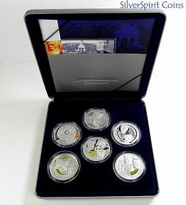 2001-MASTERPIECES-IN-SILVER-PROOF-Coin-Set