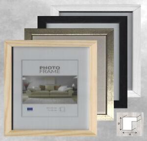 Cadre photo bois 10x15 13x18 15x20 20x20 20x30 21x30 a4 30x30 aussi Ersatzglas