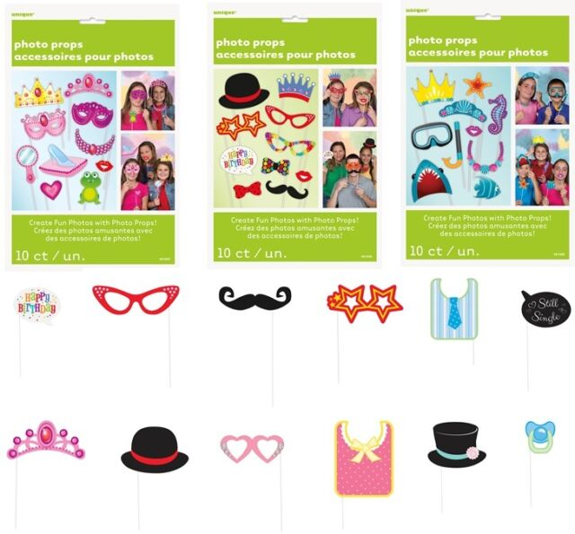 Unique Party 72517 Spa Party Photo Booth Props Set Of 10 Ebay