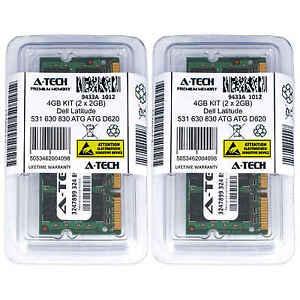 4GB-KIT-2-x-2GB-Dell-Latitude-531-630-830-ATG-ATG-D620-ATG-D630-Ram-Memory