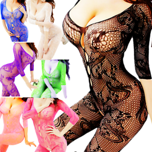 5f6403f6e0 Image is loading Mesh-Big-Fishnet-Bodystockings-Dress-Body-Stocking -Nightwear-