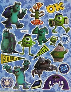 NEW MONSTERS UNIVERSITY BIG POSE SCRAP BOOK STICKERS OR ...