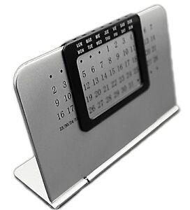 Sleek Perpetual Desktop Calendar Everlasting Home Office Stand Alone