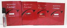 Cartier Declaration Bois Bleu EDT 1.5 ml Men's Sample Vials x4