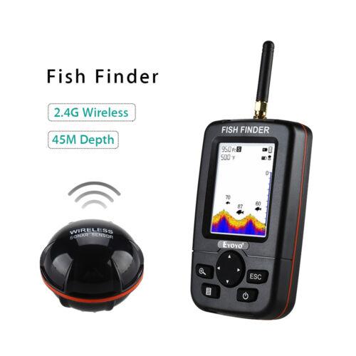 """Eyoyo JX01 2,8 /""""LCD-Bildschirm Fish Finder Wireless Sensor Echolot Fischfinder"""