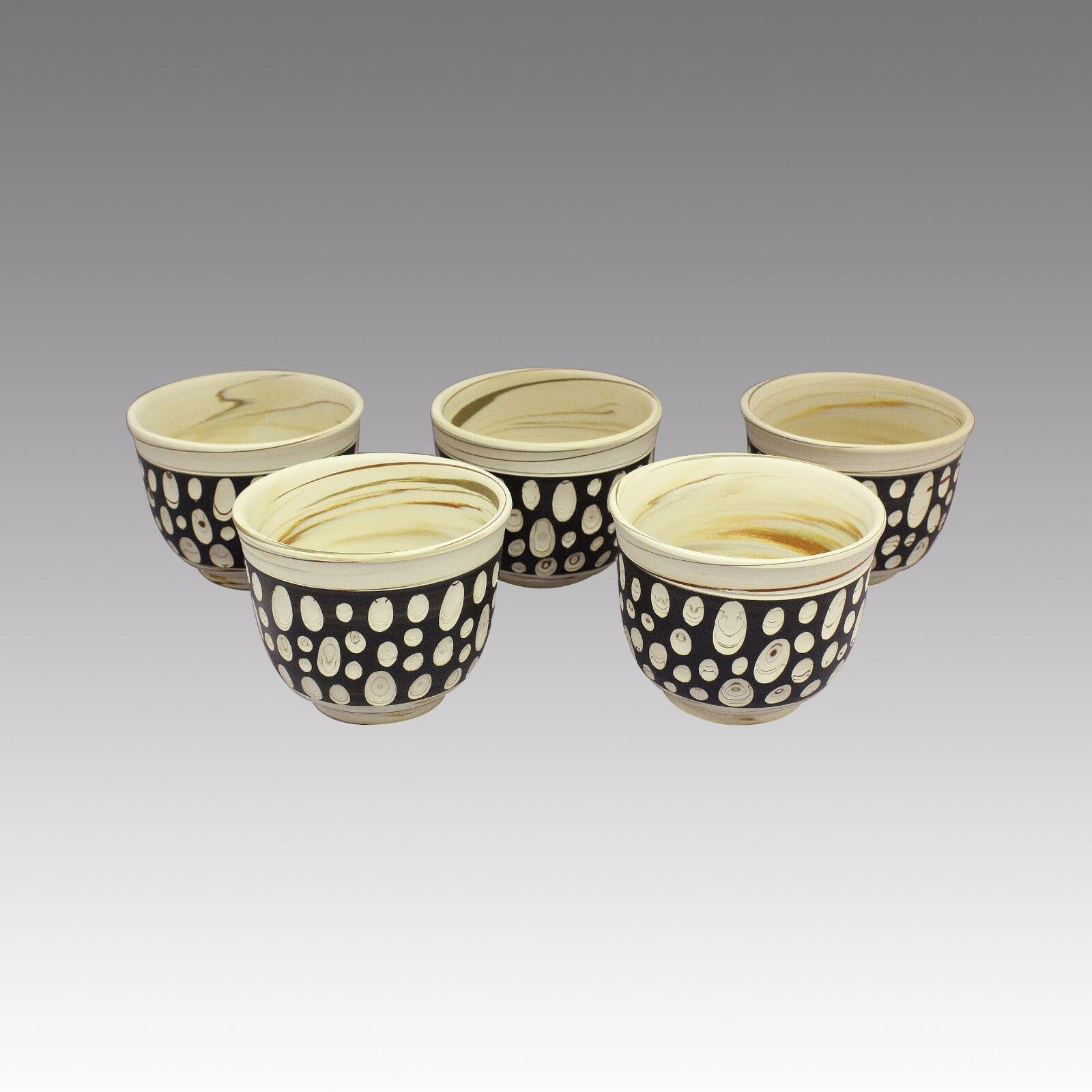 Polka Dot-Tokoname Pottery Tasse à thé  5 Yunomi-Japonais en céramique