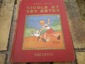 NICOLE-ET-SES-BETES-THERESE-LENOTRE-et-ALAIN-SAINT-OGAN-copyright-1928-bon-etat