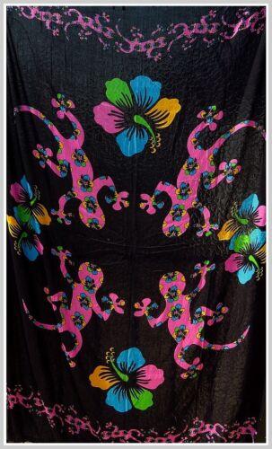 Sarong Pareo Wickelrock Wandbehang Wandtuch Tuch Gecko Ethno Indie Goa Hippie