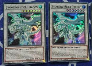 DANE-ENSE3 Super Rare Yugioh: Shooting Riser Dragon Mint