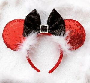 "Santa Claus ""Ho Ho Ho "" Merry Christmas inspired mouse ears,Christmas Mickey Mou"