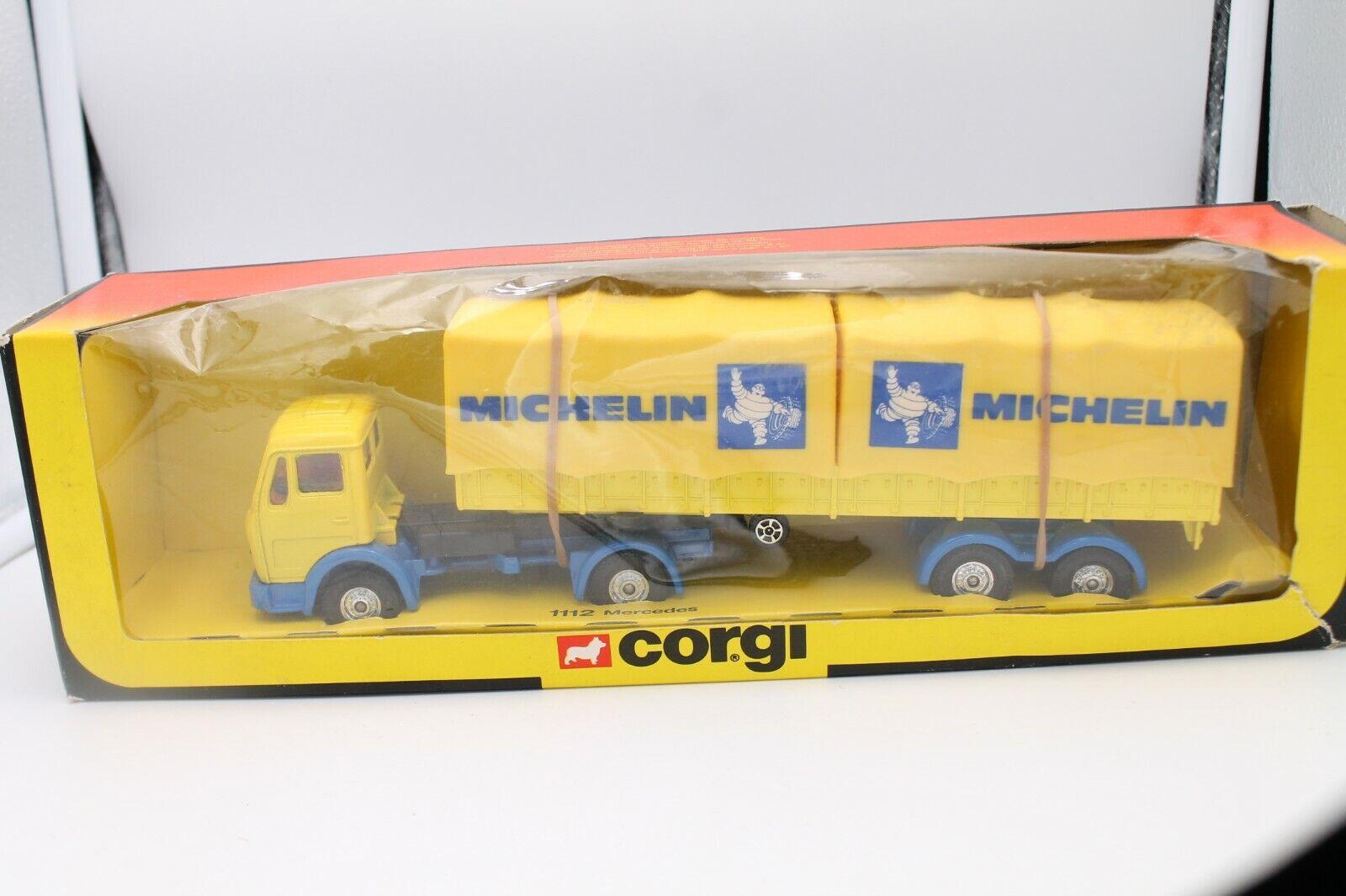 CORGI TOYS 1112  MERCEDES BENZ camion  MICHELIN  Neuf dans sa boîte
