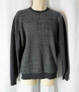 HART-SCHAFFNER-MARX-Sweater-Cashmere-gray-Large-crew-neck-NWT-295