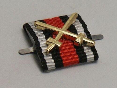 German 1914-1918 Cross w Swords Ribbon Bar  Tab