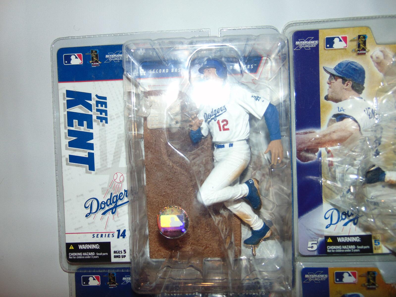 4) LOS ANGELES Dodgers ALL WHITE JERSEY Jeff Kent Kent Kent ISHII GAGNE Lot Set Mcfarlane 1d8745
