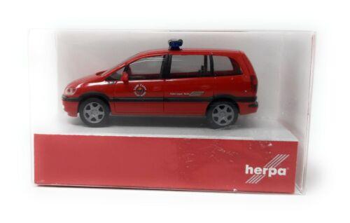 Herpa h0 1:87 automóviles bomberos Opel Zafira bomberos comida OVP 046886