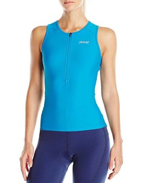 NWT ZOOT Women's Active Tri Mesh Tank, Col Ocean blueee, Size M