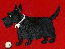 Dog dollhouse miniature 1//12 scale A257bk plastic resin Scottish Terrier