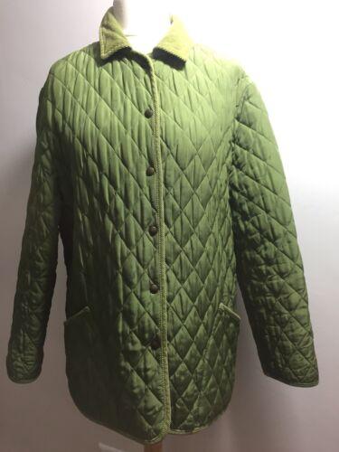 en vert taille Manteau matelassée Aquascutum femme soie pour L qZFAUz