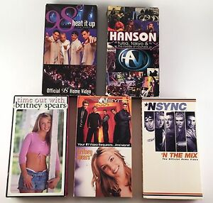 LOT OF 90s Boy bands Pop Music VHS tapes NSYNC BRITNEY SPEARS HANSON 98 DEGREES