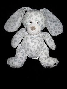Doudou Lapin blanc et gris tachete Simba Toys Benelux Nicotoy 23/39 cm