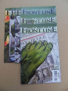 World-War-Hulk-Front-Line-1-6-Lot-Complet-Marvel-2007-VF-minus