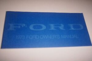 FORD-1973-Galaxie-LTD-Owners-Manual-NOS