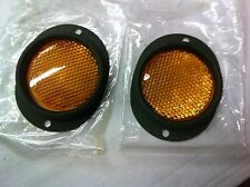Military Truck Military Trailer Amber Yellow Complete Reflector Set of 2 M101