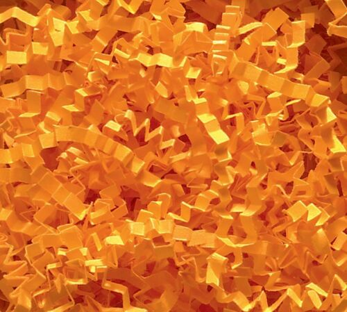 U Choose Size! ORANGE Gift Basket Shred Crinkle Paper Grass Filler Bedding