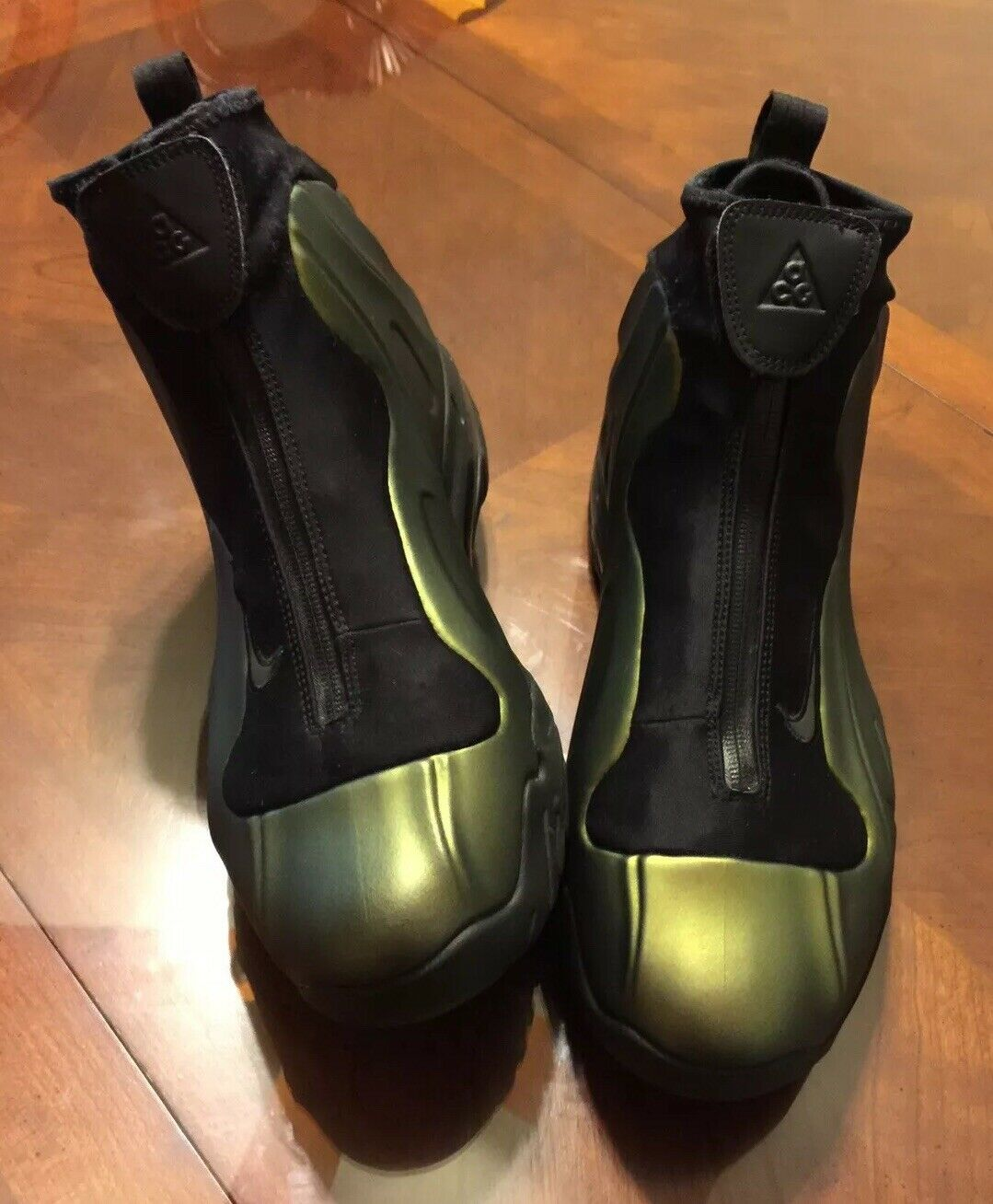 Nike i95 Flightposite Foamposite Boots Posite Metallic gold Sz 10 RARE