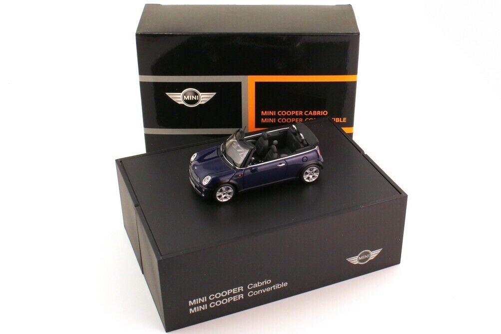 BMW Mini Cooper Cabrio 1.6 R52 Negro Ojo Púrpura 1 43 Minichamps (Distribuidor Modelo)