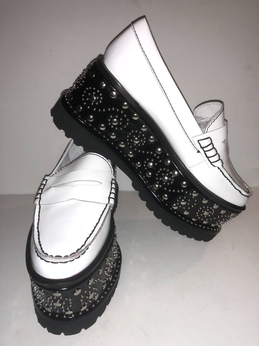 Gentlemen/Ladies Jeffrey Campbell White Keith-St Platform Shoes-8.5 Queensland product quality Different goods