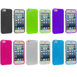 Soft-Daimond-Pattern-Gel-Case-Cover-Protector-Pouch-For-iphone-5-5G-5S-SE-5SE