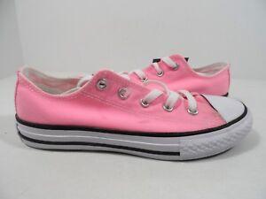 Détails sur Converse Enfant Chuck Taylor All Star Lo Sneaker Rose Taille 2
