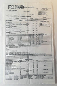 ONE-TREE-HILL-set-used-CALL-SHEET-Season-3-Episode-5
