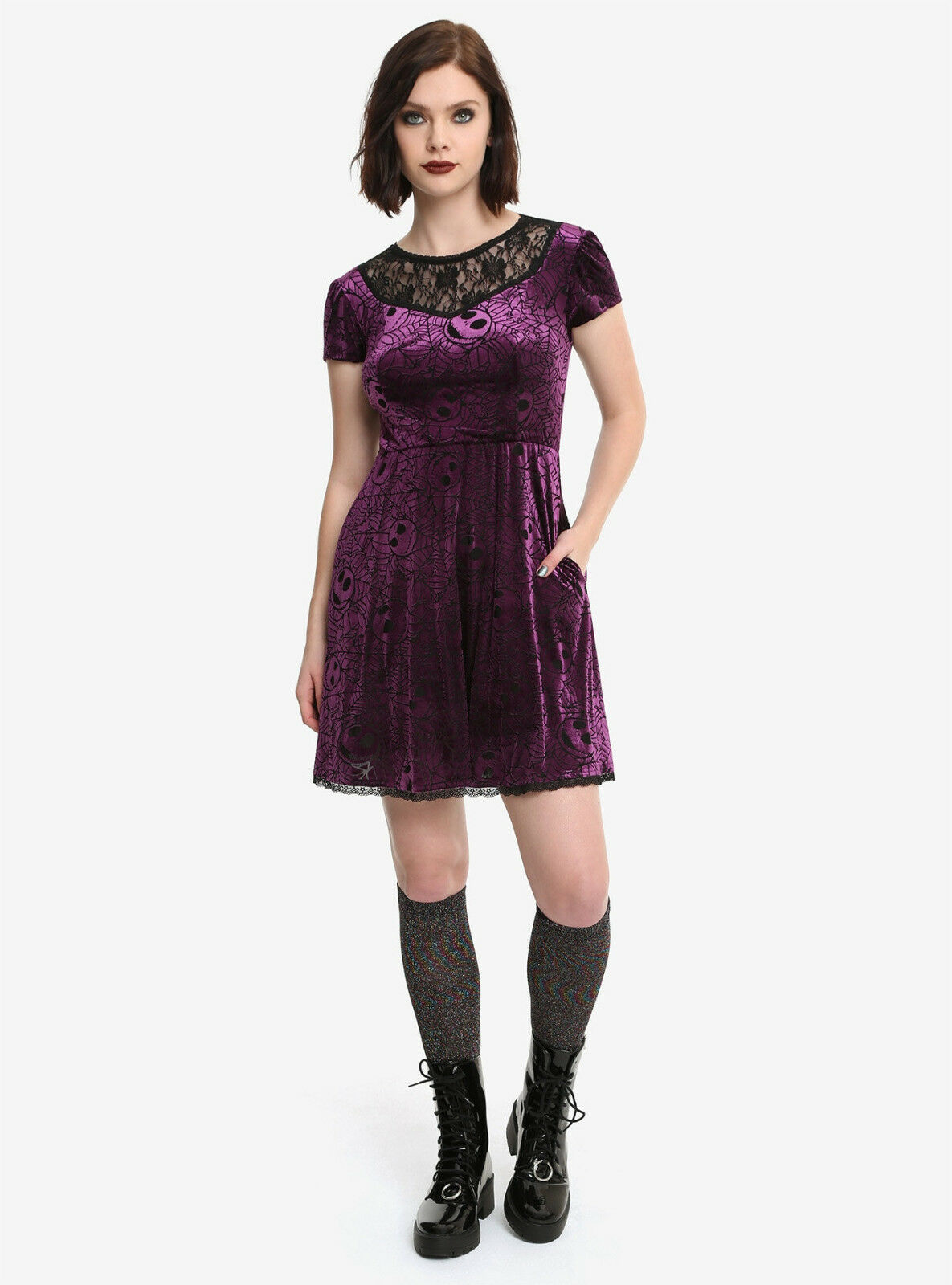 NEW The Nightmare Before Christmas purple web burnout dress, S, M, MSRP  59.90