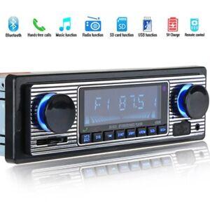 Autoradio-Bluetooth-MP3-Player-Vintage-Stereo-USB-Stereo-AUX-Classic-Car-Au-G5S8
