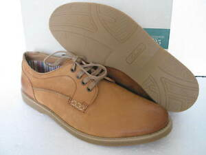 NEW Clarks Mens FUSE WALK TAN Leather Casual Shoes SIZE 6 & 7 & 12 &10
