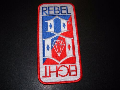 """REBEL 8 Red White Blue Emroidered Patch 5.75/"""" skateboard Clothing Skate eight"""