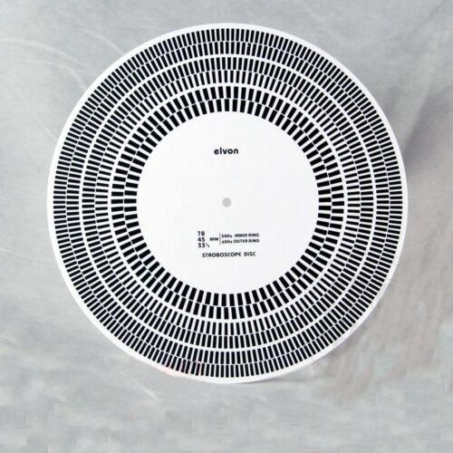 "12/"" elvon LP Vinyle Jauge Platine Stroboscope disque Distance//Vitesse//angle Checker"