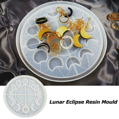 1x Epoxy Lunar Eclipse Resin Mold Silicone Mould Moon Moluds Phase Resin S7B2