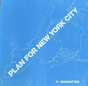 Giant Plan For New York City-Manhattan Book 4 -1969 180 Pages Maps+Planning Info