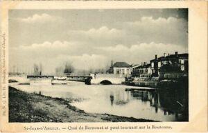 CPA St-JEAN-d'ANGÉLY - Quai de Bernouet et pont tournant sur la Boutonn (104614)