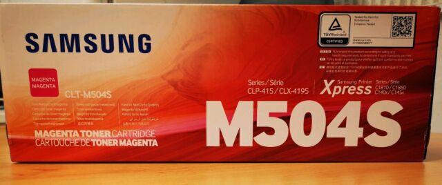 Genuine Samsung Toner Cartridge Magenta CLT M504S Series CLP-415 /CLX4195