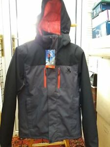 Zeroxposur Mens Insulated Padded Hooded Waterproof Jacket