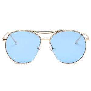 3bb1bb749b06 New Retro Mirror Designer Flat Lens Women Sunglasses Aviator Style ...