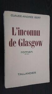 L Sconosciuto Di Glasgow Romanzo Claude-Andree Bert Guantone Furet 1967 Spilla